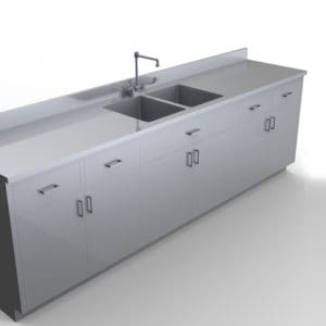 Base Cabinet with Sink, Various Lengths