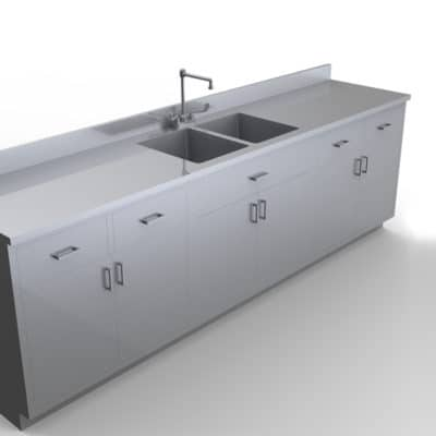 Base Cabinet with Sink 7 feet