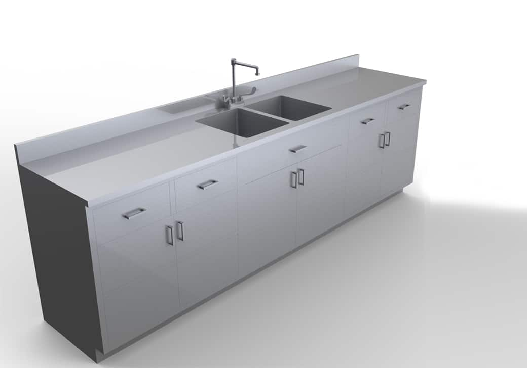 Base Cabinet With Sink 7 Feet Mopec