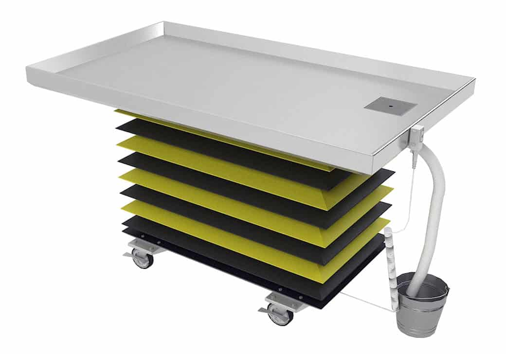Animal Lift Table With Scale : Trimming table rectangular large animal on casters with lift