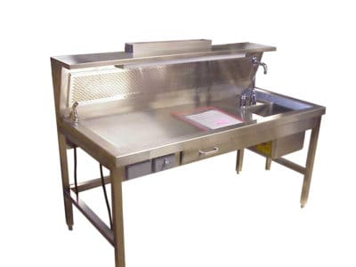 Workstation-Dissection Table, Right Sink 84 – OF300