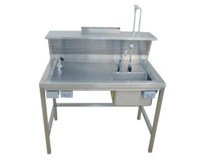 Workstation-Back draft, Dissection Table, Right Hand Sink – OH100