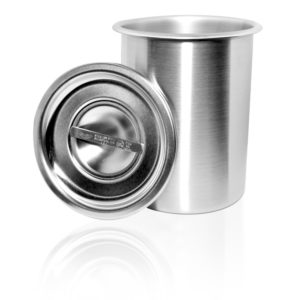 Storage Container w/ Optional Lid, Stainless Steel