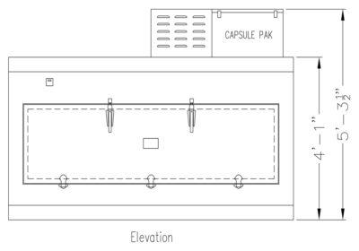 One Body Side Opening Conveyor Morgue Refrigerator – KI100 2
