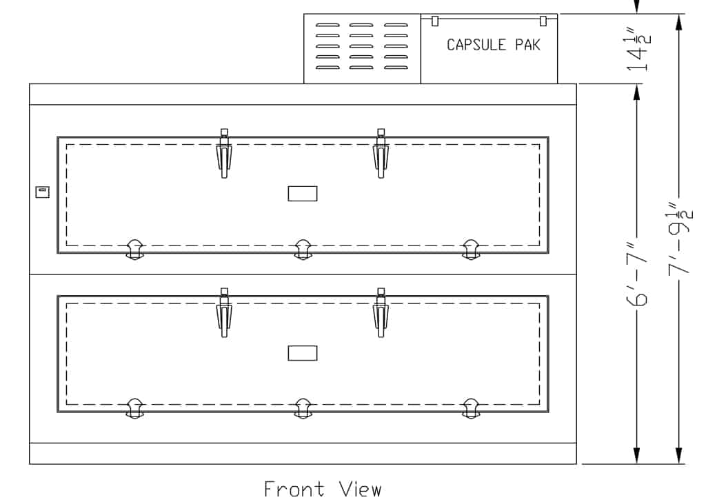 Two Body Side Opening Morgue Refrigerator