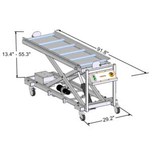 Economy Three Tier Solid Roller Lift, Ideal for Funeral Homes – JD300FH