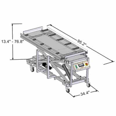 Five Tier Split Roller Bariatric Lift – JD5001