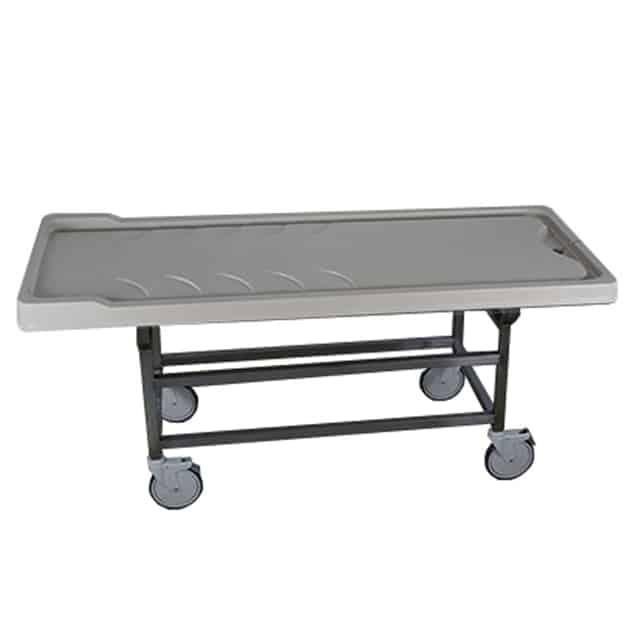 grey xray autopsy cart