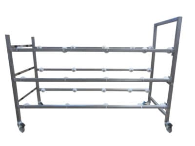 Cadaver Storage Rack with Casters, Three Tier – IF27301