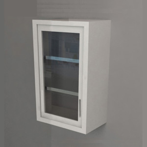 Wall Cabinet – Swing Door with 2 Shelves, Various Dimensions & Openings
