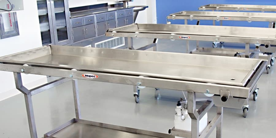 Mopec Removable Tray Dissection Tables for Anatomy Labs