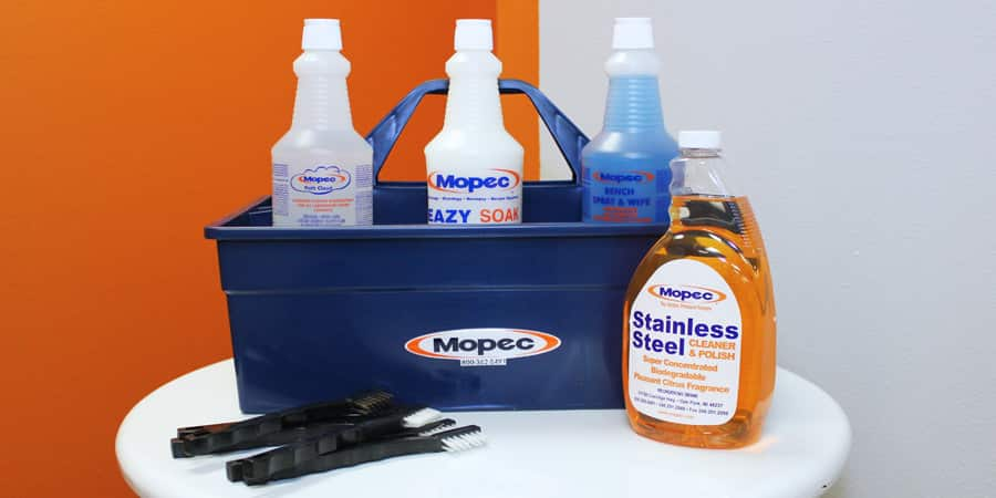 Mopec Cleaners, Disinfectants, and Neutralizers