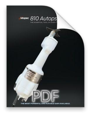 Mopec 810 Autopsy Saw Brochure BD810