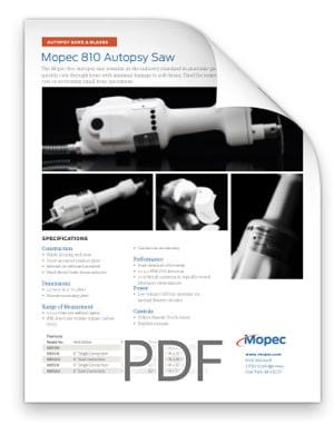 Mopec 810 Autopsy Saw Spec Sheet BD810