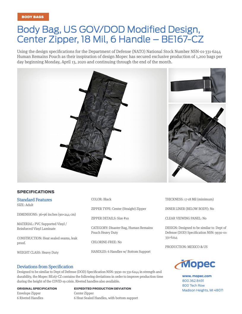 Download Mopec BE167-CZ Spec Sheet