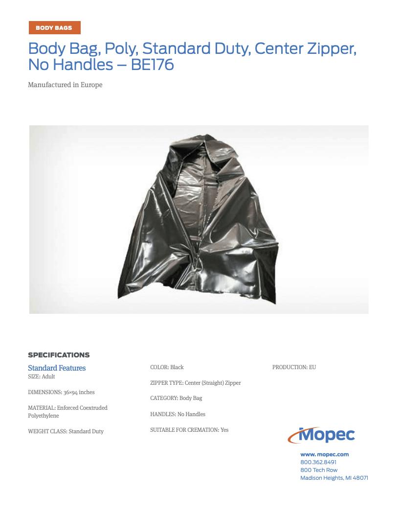 Download Mopec BE176 Spec Sheet